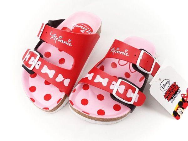 EMMA商城^~Disney迪士尼米妮 調整式氣墊兒童拖鞋.童鞋紅粉15^~21號