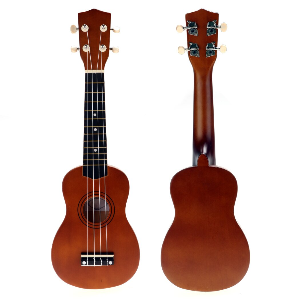 """21"""" Soprano Cute Wooden Coffee Ukulele Guitar With Bag 1"""