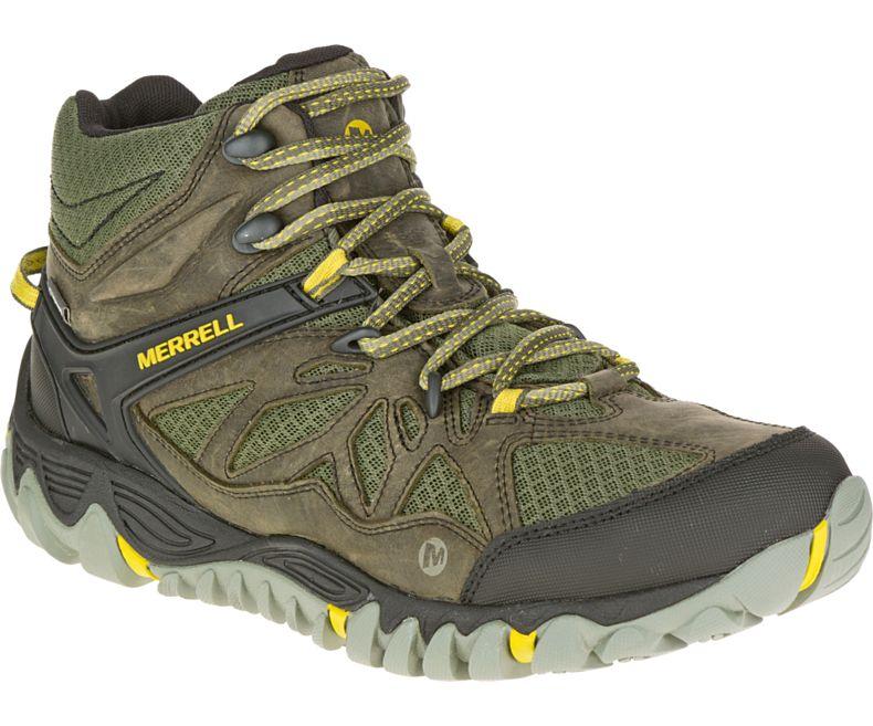 零碼特價Merrell 防水透氣越野鞋/健行鞋/登山鞋 ALLOUT BLAZE VENT MID GORE-TEX 男款 ML32777橄欖綠