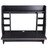 Wall Mounted Floating Computer Desk with Storage Shelves Laptop Home Office Furniture Work Black 2