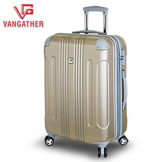 【騷包館】 EasyFlyer 24吋 都會時尚 霧面可加大飛機輪旅行行李箱 香檳金 V1581-24