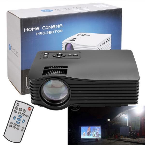 Mini LED LCD Projector HD 1080P PC AV USB SD Home Cinema Theater Multimedia 2