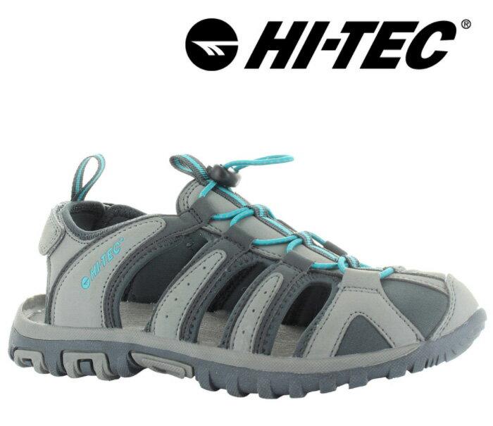 【HI-TEC 英國】COVE 水陸二棲護指涼鞋 淺灰 女款/O006193053
