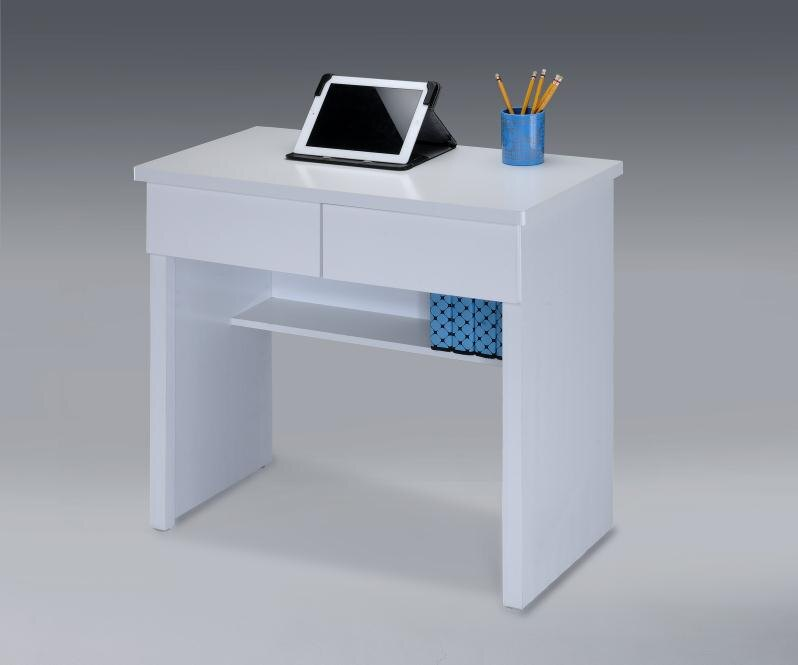~尚品傢俱~ ~自運價~ Q~GF~B17 純白二抽書桌 電腦桌 辦公桌 書桌 事務桌 工