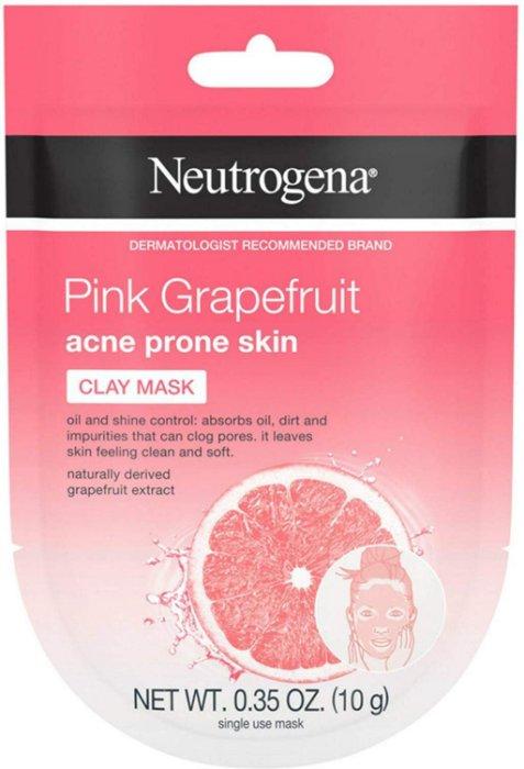 【彤彤小舖】 Neutrogena 粉紅葡萄柚粉刺泥面膜 (無油) 10g 單次面膜