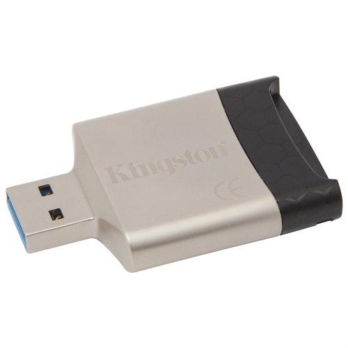 Kingston FCR-MLG4 MobileLite G4 USB 3.0 External Multi Flash Memory Card Reader fit 4GB 8GB 16GB 32GB 64GB 128GB 256GB Kingston SanDisk Samsung microSDHC microSDXC micro SD SDHC SDXC