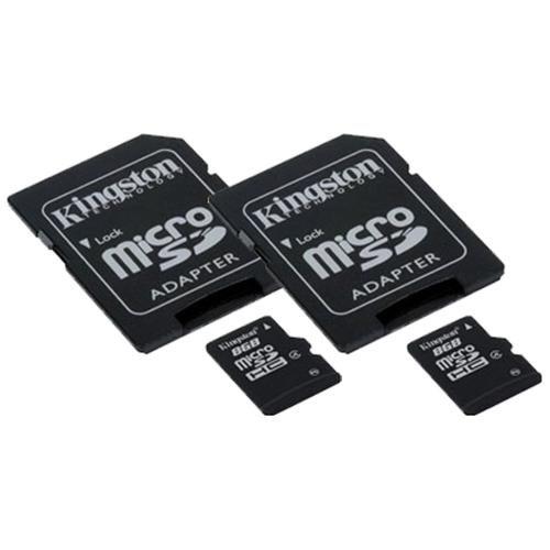 WholeSale 2 piece Kingston 8GB microSDHC Class 4 8G microSD micro SD SDHC C4 TF Flash Memory Card SDC4/8GB (8GB x2 = 16GB)