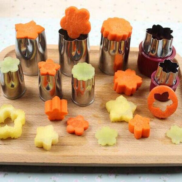 PSMall不銹鋼蔬菜水果切模一組8個烘培配件【J2285】