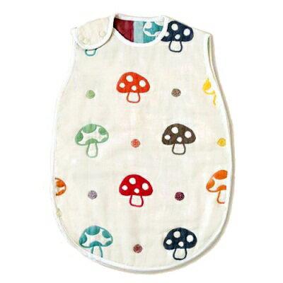 日本 Hoppetta  六層紗蘑菇防踢背心-嬰童(好窩生活節) - 限時優惠好康折扣