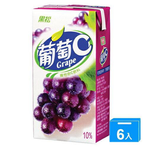 黑松葡萄C300ml*6入【愛買】