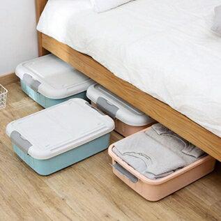 床底扁平收納箱帶輪子大號收納盒加厚塑料衣服整理箱儲物箱 聖誕節全館免運