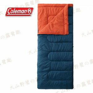 【露營趣】中和安坑 Coleman CM-27262 表演者II海軍藍睡袋 5℃ 信封型睡袋 化纖睡袋 纖維睡袋 可全開併接