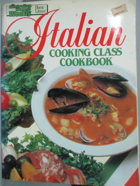 ~書寶 書T1/餐飲_YHL~Italian Cooking Class Cookbook