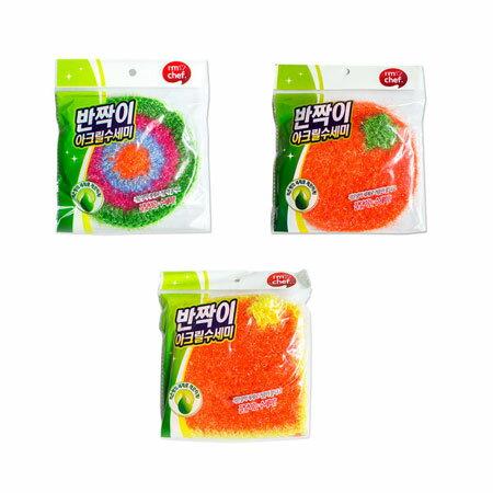 韓國 I'm chef 絲光纖維菜瓜布 (1入) 清潔 廚房 浴室 居家 洗碗 菜瓜布【B064232】