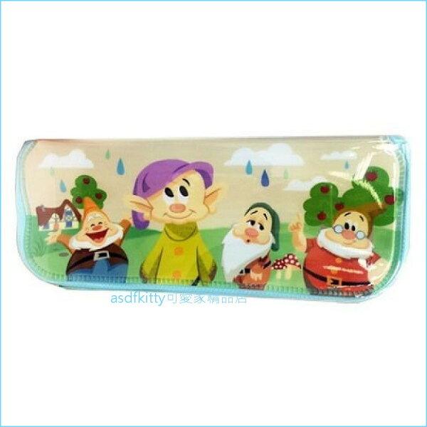 asdfkitty可愛家☆迪士尼七個小矮人與蘋果樹L號防水餐具袋筆袋收納袋-韓國製