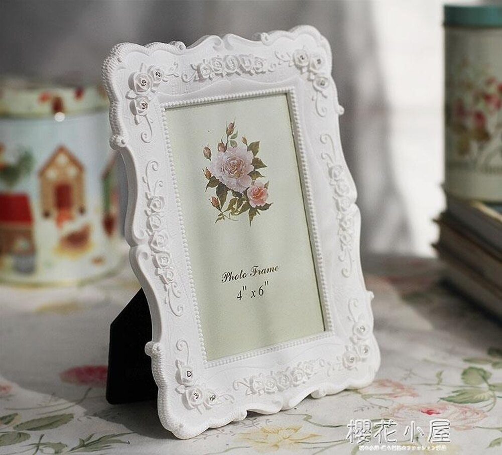 相框6吋7吋8吋10吋白色田園相框組合玫瑰相架創意照片框擺臺A01林之舍家居