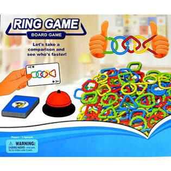 【888便利購】環環相扣眼明手快競賽遊戲(2到4人桌上遊戲)(5057)