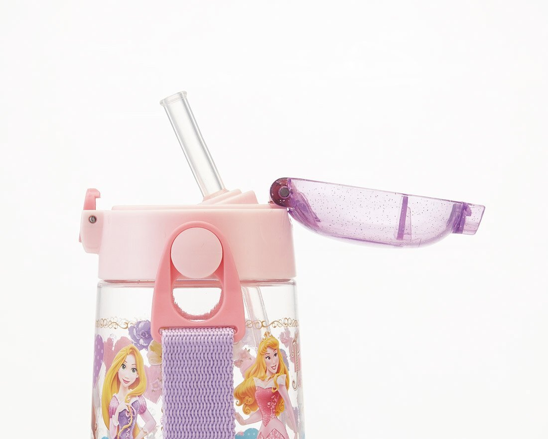 公主系列 塑膠吸管水壺480ml,彈蓋水瓶/隨身瓶/直飲水壺/外出水壺,X射線【C412950】