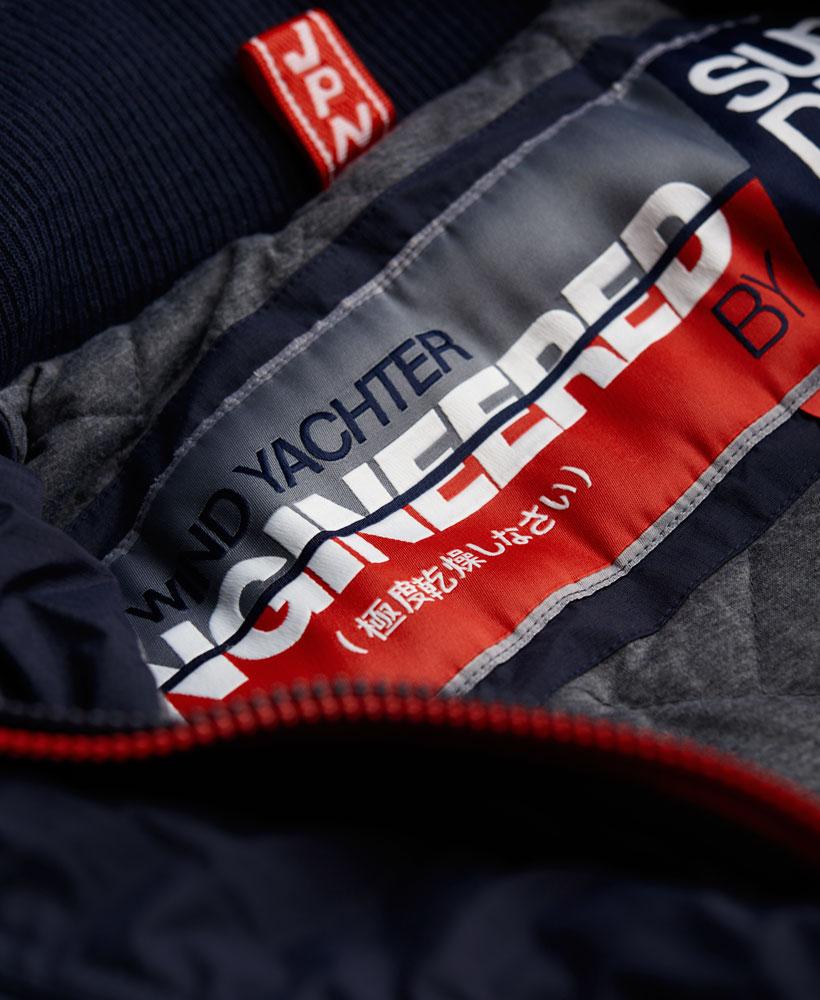[男款]英國代購 極度乾燥 Superdry Wind Yachter 男士風衣戶外休閒外套 防水防風 海軍藍/紅色 4