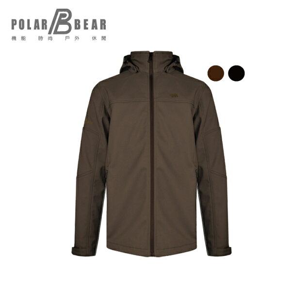 【POLARBEAR】男POLARTEXSOFTSHELL防風透氣外套