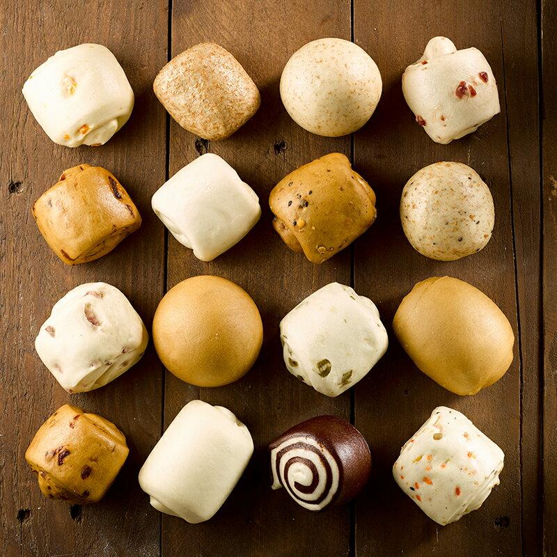 【綜合小饅頭】1包12顆(每顆約60克+/-5) ▶玉食堂手工養生包子饅頭