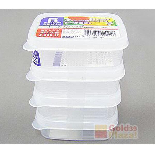 BO雜貨【SV8212】方型保鮮盒 (100ml*4)便當盒 廚房收納 冰箱冷藏 微波爐 餐廚 保鮮 食物食材K202