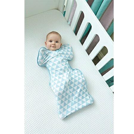 Love To Dream SWADDLE UP蝶型包巾 Stage1 (0歲~6個月)新生兒包覆款★竹纖維輕薄款★-藍色三角