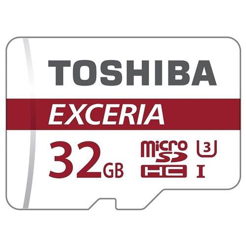Toshiba EXCERIA M302 32GB 32G microSDHC 90MB/s 4K Class 10 UHS-I U3 C10 microSD micro SD SDHC Memory Card THN-M302R0320EA + OEM USB 3.0 Card Reader 0