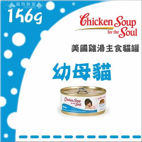 +貓狗樂園+ 美國Chicken Soup雞湯【主食罐。幼母貓。156g】80元*單罐賣場