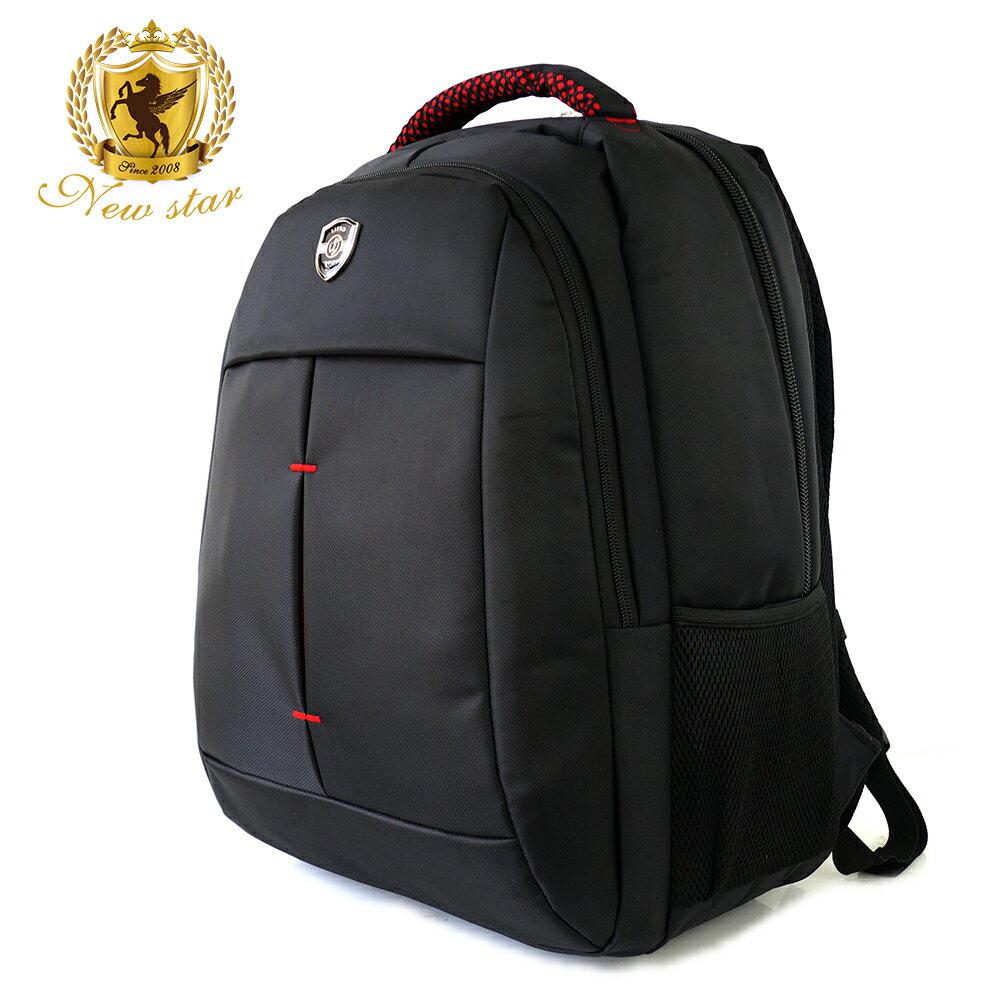 時尚簡約防水極簡雙層後背包電腦包 NEW STAR BK240 0