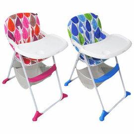 【淘氣寶寶】evenflo 時尚餐椅 Y388T(藍色/紅色)【易折疊收納,不占空間】