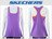 Shoestw【GWPTT650PUR】SKECHES 運動背心 彈性排汗衣 雙層 紫橘 透氣 0