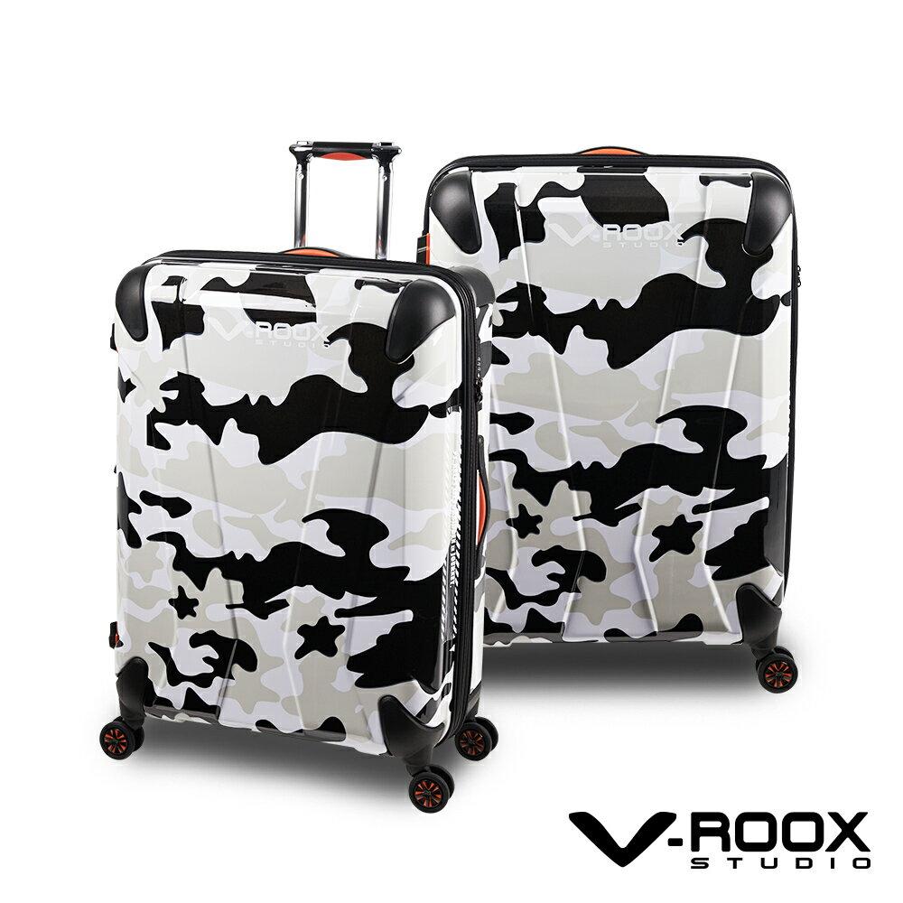 V-ROOX AXIS 28吋 原創設計可擴充行李箱 硬殼防爆雙層拉鏈旅行箱-4色可選 2