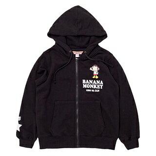 【猴子大王 BANANA MONKEY】NO.25 (童裝) 連帽外套-黑 (原馬桶洋行)