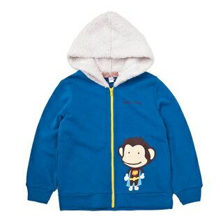 【猴子大王 BANANA MONKEY】SUPER八奈奈 (童裝) 連帽外套-藍 (原馬桶洋行)