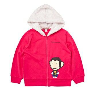 【猴子大王 BANANA MONKEY】SUPER八奈奈 (童裝) 連帽外套-中粉 (原馬桶洋行)