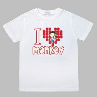 【猴子大王 BANANA MONKEY】一見鍾情 (童裝) 短T-白 (原馬桶洋行)