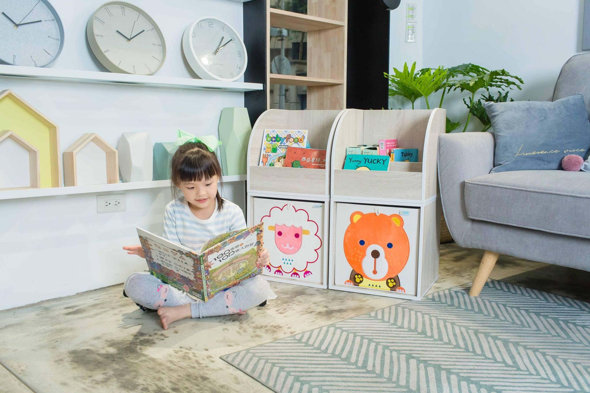 收納櫃 收納  收納箱 兒童收納 MyTolek 童樂可積木櫃&藏寶盒六件組(北歐風~木紋) 3
