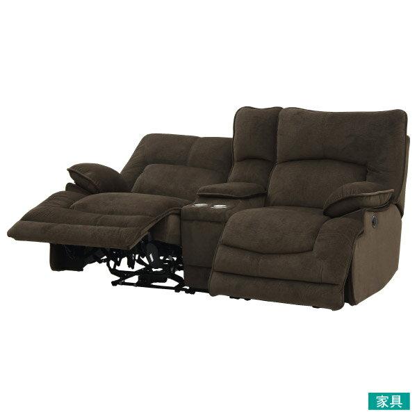◎布質2人用WIDE電動可躺式沙發 附茶几 HIT DBR NITORI宜得利家居 1