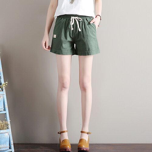寬鬆緊腰亞麻休閒褲(7色S~3XL)【OREAD】 3