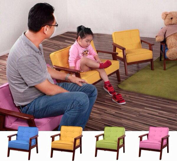 新生活家具NewlifeFurniture:!!新生活家具!!皮沙發小沙發兒童專用木扶手皮椅艾莎的小椅子四色可穿鞋椅工廠直營臺灣製造非H&D