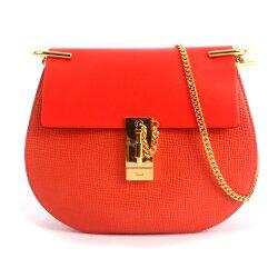 【CHLOE】拚色山羊皮金鍊 drew bag(唇膏粉CORAL POP) 3S1031 HOX B9J