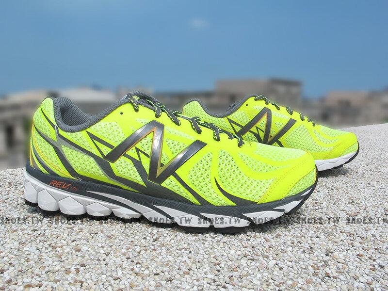 《超值4.9折》Shoestw【M3190YL1】NEW BALANCE 慢跑鞋 螢光黃 2E楦頭 男生