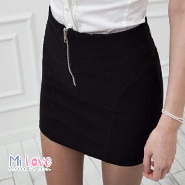 MiLove ↗ 百搭高腰顯瘦拉鏈包臀裙 ~~K07~