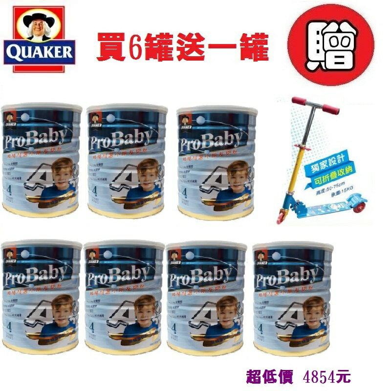 *美馨兒*桂格-4號特選小朋友奶粉/新包裝(1500公克)買6罐送一罐 4854元+贈滑板車