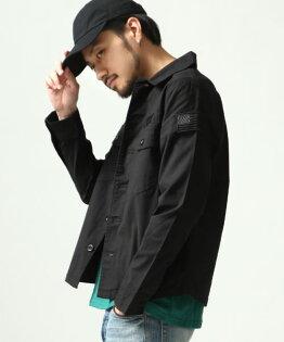軍風襯衫BLACK