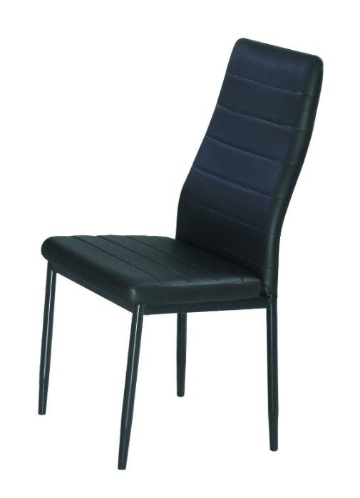 ~尚品傢俱~JF~988~11 馬可黑皮餐椅