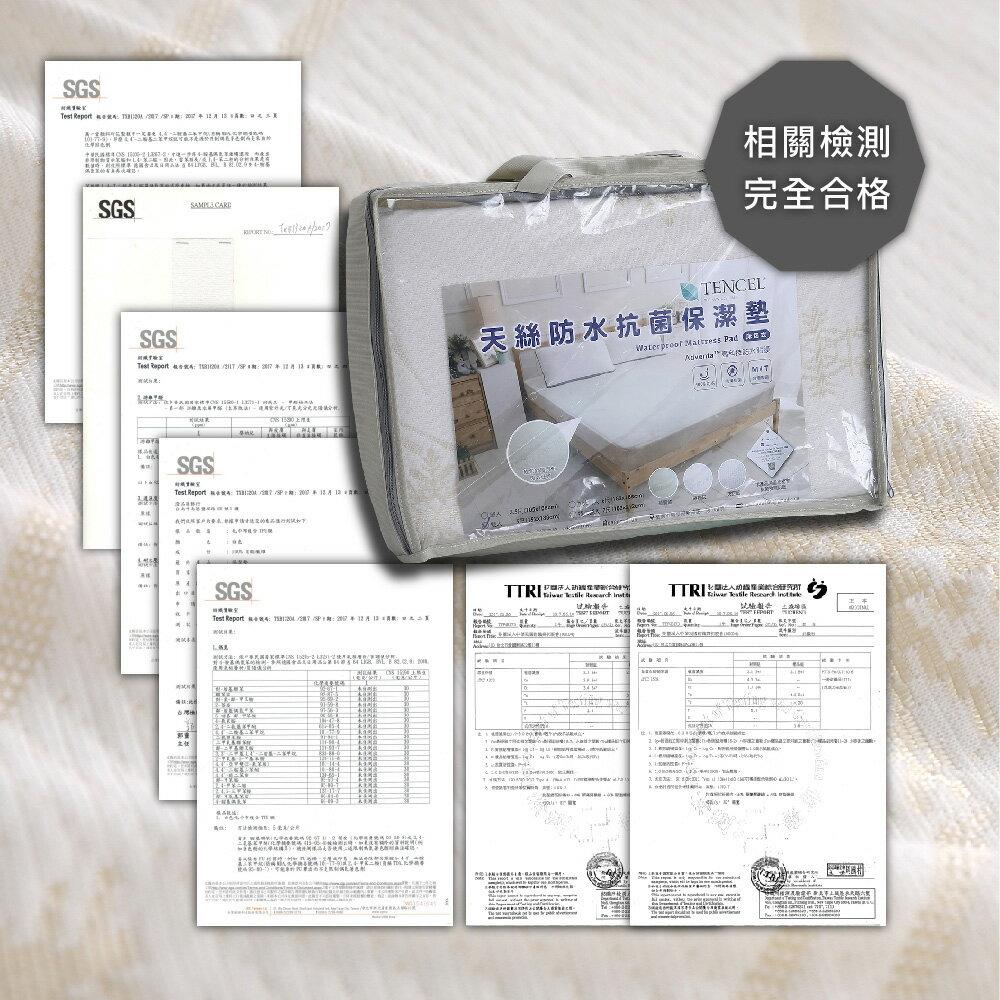 天絲超防水透氣保潔墊 單人 / 雙人 / 加大 / 特大 防水床包 獨家天絲雪花布 BEST貝思特 8