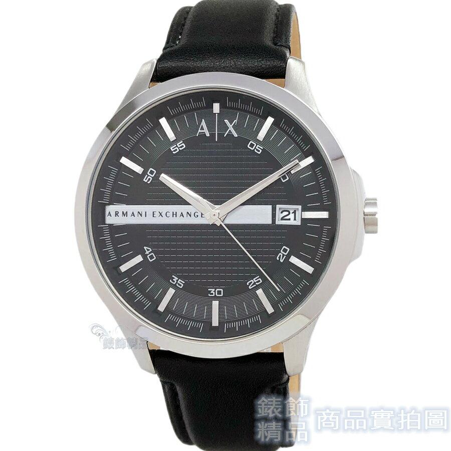 AX ARMANI EXCHANGE AX2101 都會紳士 男錶 立體格紋黑皮帶 手錶【錶飾精品】