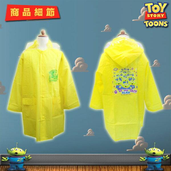 Disney迪士尼ToyStory玩具總動員三眼怪兒童雨衣卡通雨衣日本進口正版NO.370